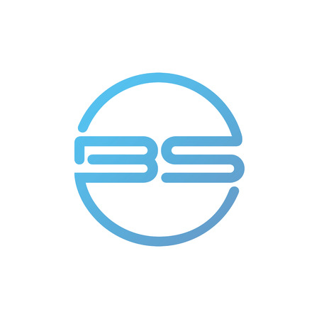 Letter B and S Logo Icon Design Template Elements. 일러스트