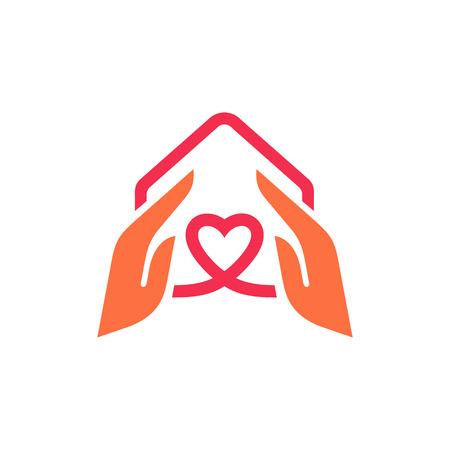 Charity logo design template. Real Estate Vector Logo Template