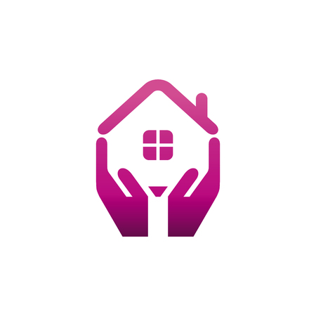 Real Estate Vector Logo Template. Vector Logo Template.  イラスト・ベクター素材