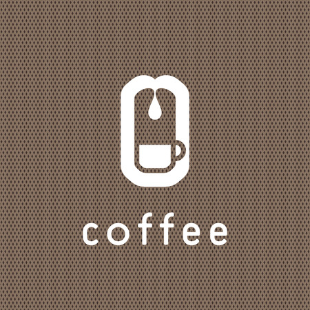 coffee beans: Coffee logo concept with coffee making scheme.