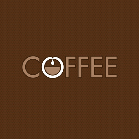 Coffee logo concept with coffee making scheme.
