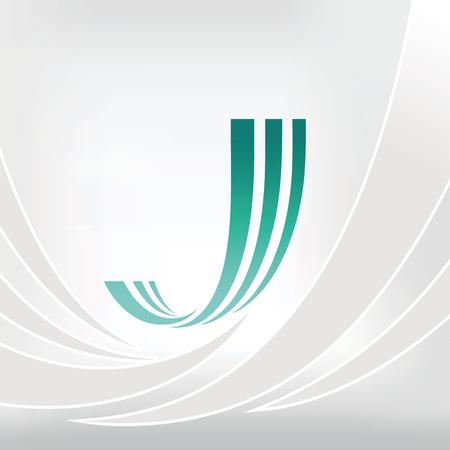 Vector Letter J Logo Icon Design Template Elements.