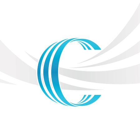 Vector de la letra C del icono del logotipo elementos de diseño de la plantilla. Logos