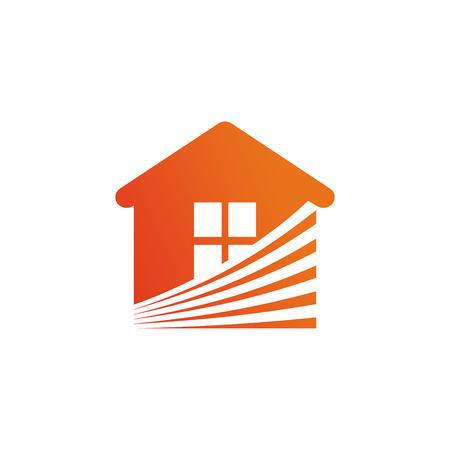 Real Estate Vector Logo Template. Abstract house logo.