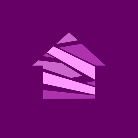 Abstract house logo. Real Estate Vector Logo Template. 일러스트