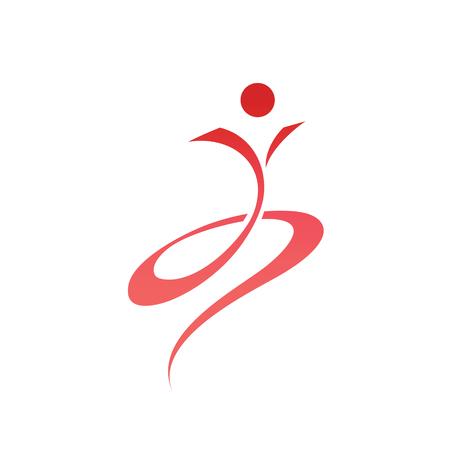 Vector Sport People Logo. People Logo Design Template.