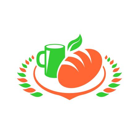 coffeecup: Breakfast logo Foods Clip Art set illustration Illustration