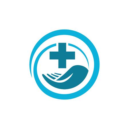 Vector medical health icon symbol care