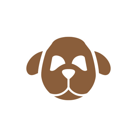 Dog head animal symbol silhouette pet vector Illustration