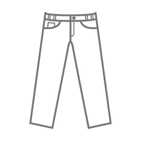 effen ongekleurde vector mockup broek