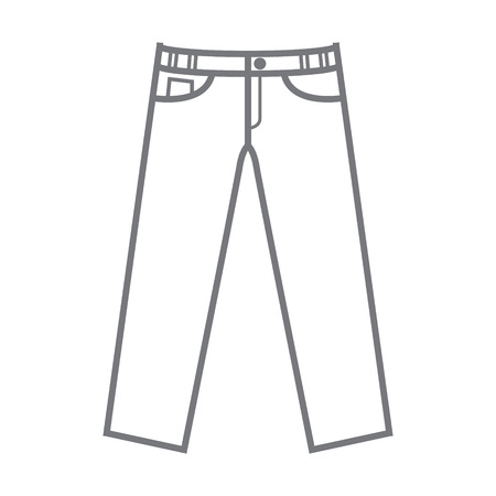 plain uncoloured vector mockup trousers