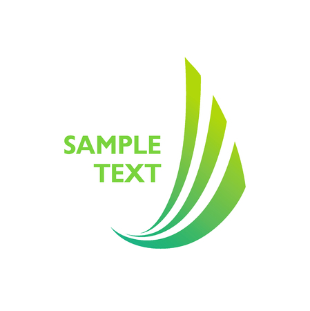 Green vector icon logo of 3 abstract stripes 일러스트