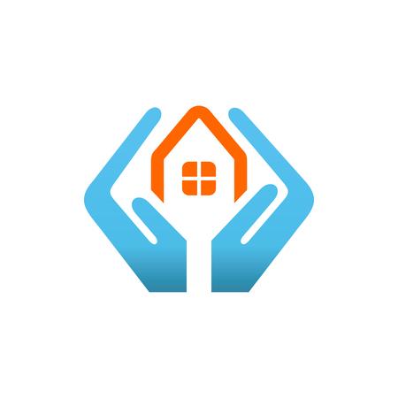 Real Estate Vector Logo Template. House security services logo.