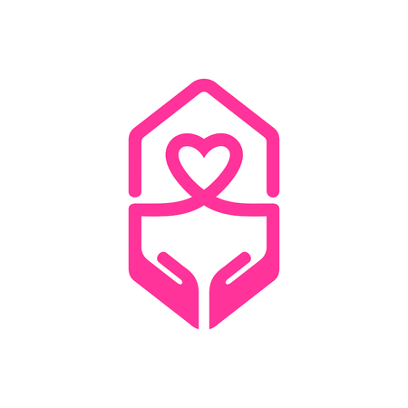 Charity logo design template. Vector Logo Template.
