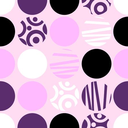 Seamless vector pattern of circles for web design or print Ilustração