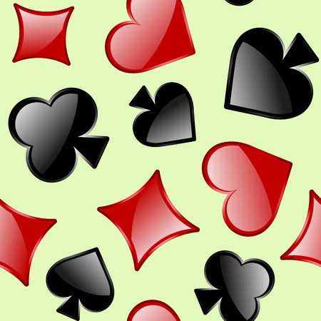 Seamless vector pattern of playing card sings