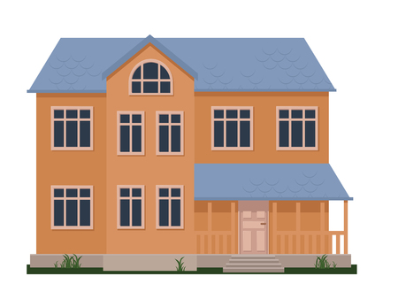 Family house flat  vector illustration