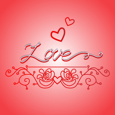 Word love hand drawn vector illustration
