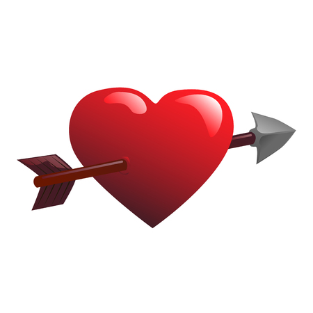 Heart and arrow vector illustration