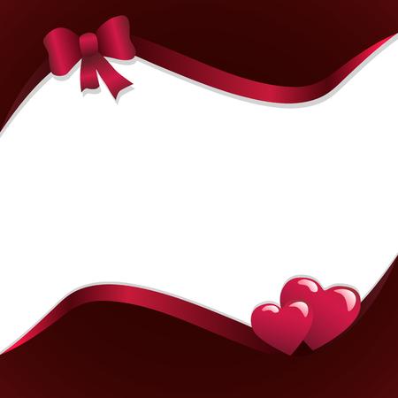 Cute pink frame vector illustration Ilustração
