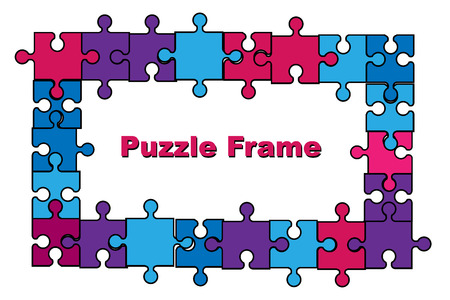 Puzzle frame vector illustration