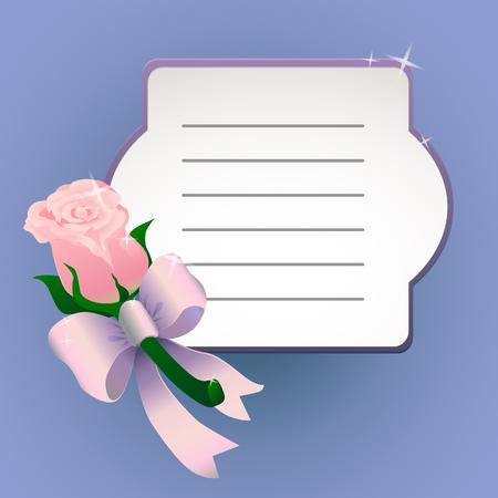 Pink flower buttonhole vector illustration