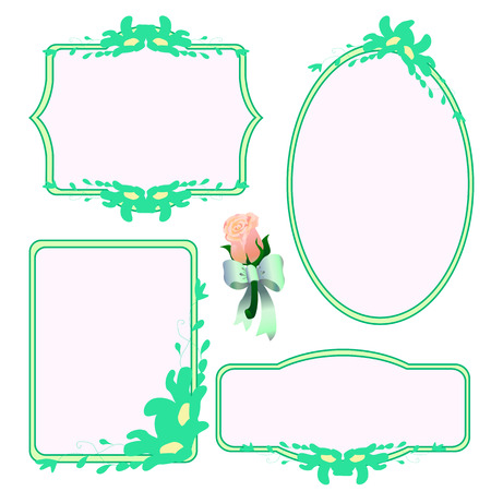 set of decorative isolated frames vector