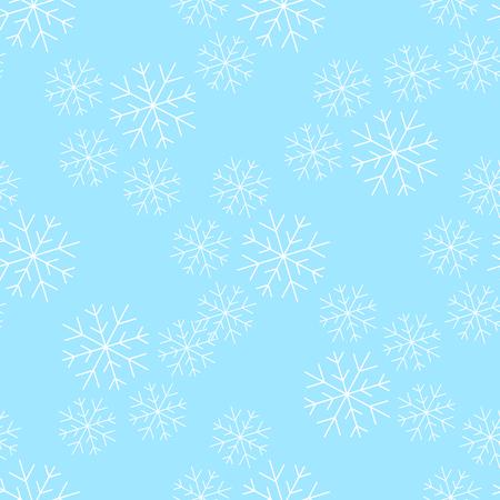 Ilustración de vector de patrones sin fisuras de Snowflakesl