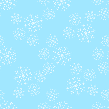 Snowflakesl seamless pattern vector illustration