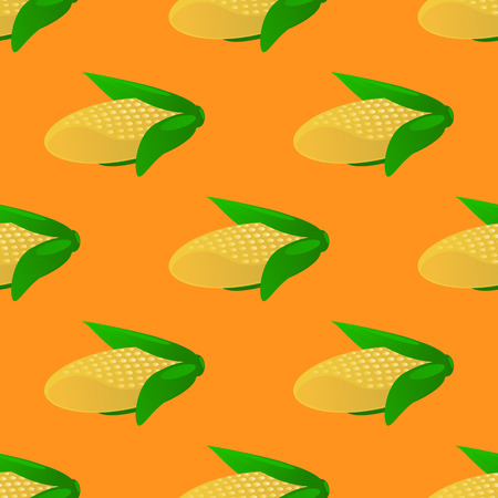 Corn seamless pattern vector illustration