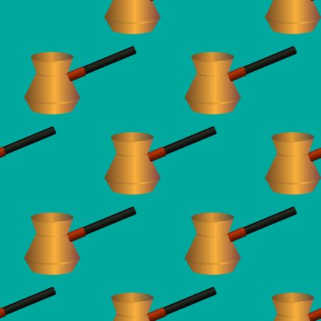 Coffee turk seamless pattern vector illustration