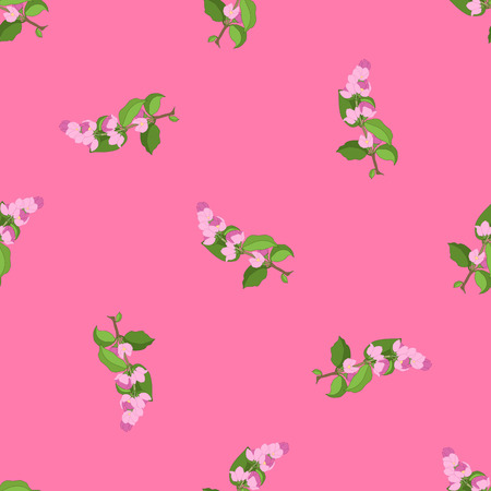 Cherry branch seamless pattern vector illustration Banco de Imagens - 125053354