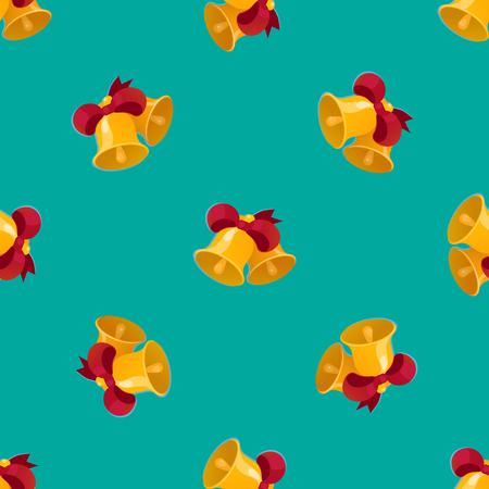 Bell seamless pattern vector illustration