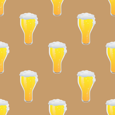 Beer seamless pattern vector illustration Illustration