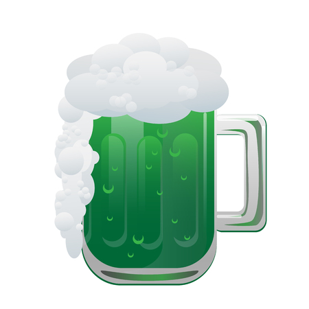 Green beer isolated vector illustration