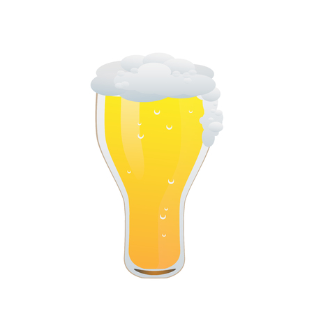 Beer isolated vector illustration