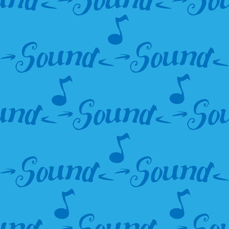 Sound lettering isolated vector illustration seamless pattern