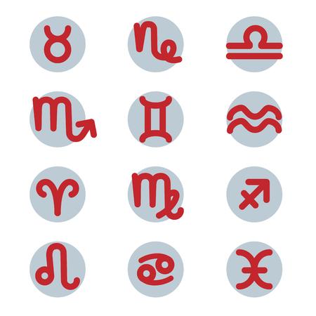 Zodiac signs set vector illustration
