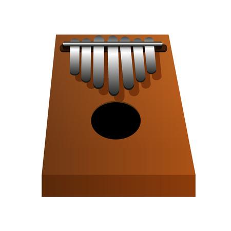 Kalimba isolated vector illustration