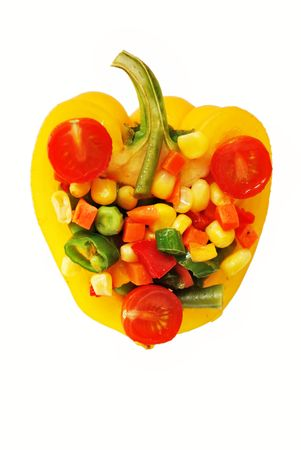 Pepper with vegetables mix