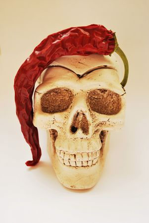 hamlet: skull and pepper, postcard