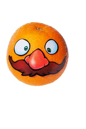 Orange Ancle Mario from series funny fruits