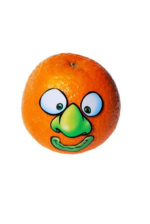 Orange Lazy Harry from series funny fruits