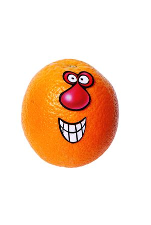 Orange Funny Larry from series funny fruits