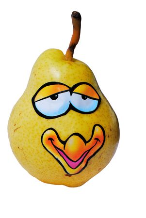 Missis yellow Big Pear from series funny fruits