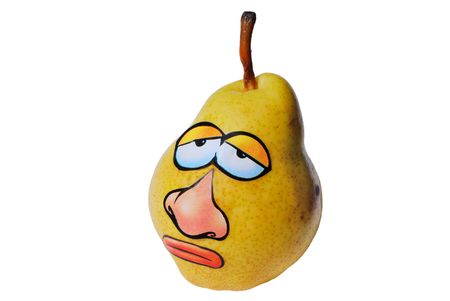 Mister Cheerless Pear from series funny fruits
