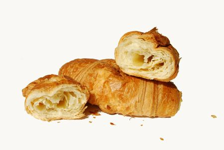 Two croissants Stock Photo