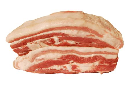 Raw pork isolated on white background