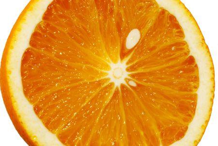 Orange close up isolated on white background