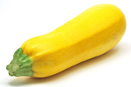 Yellow zucchini isolated on white background Stock Photo